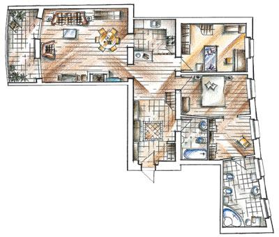 Планировка6 метрового балкона. - наши работы - каталог стате.